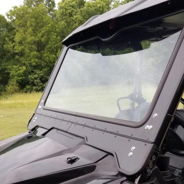 Honda Pioneer 1000 Front Glass Windshield Dirt Warrior Accessories - R1 Industries whips