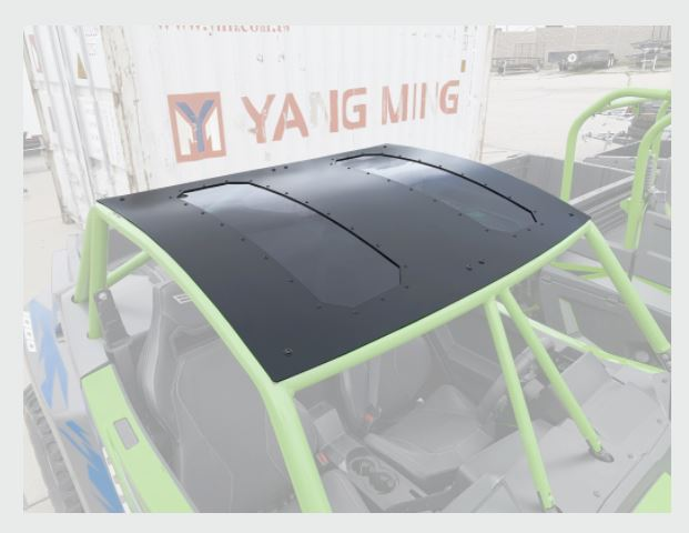 Wild Cat Aluminum Roof with Sunroof Moto Armor - R1 Industries whips