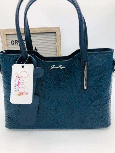 Tool Leather Structured handbag in Blue