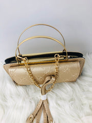 Monogram Smartphone Holder/Crossbody Bag (Champagne)