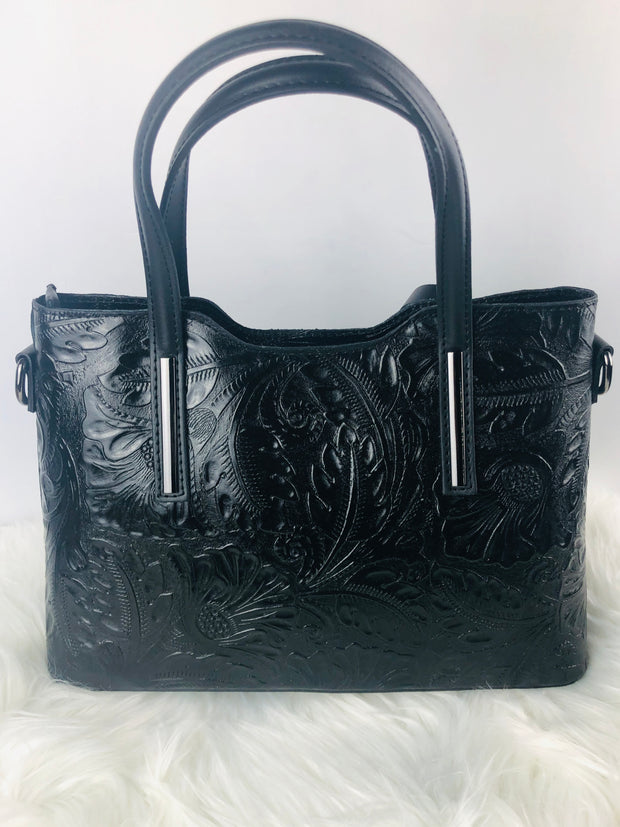 Tool Leather Structured handbag in Black