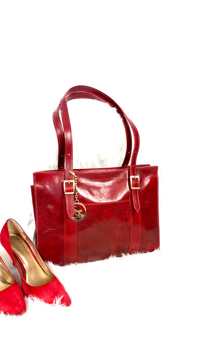 Zaria Leather Shoulder Bag