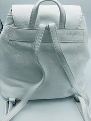 Leather Backpack handbag in White