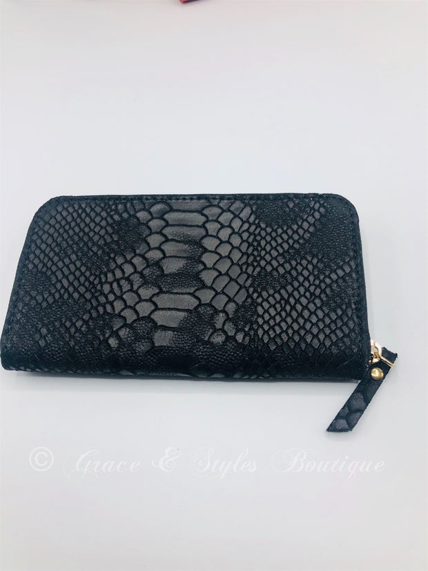 Leather Women's Wallet in Black