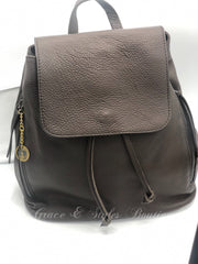 Leather Backpack handbag in Chocolate Brown