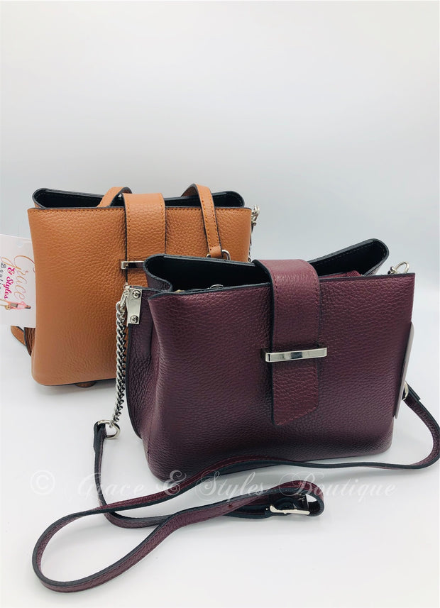 Petite Leather Bag in Brown