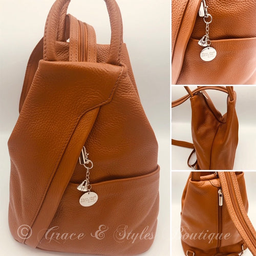 One -strap Sling Over the Shoulder Handbag (Tan)