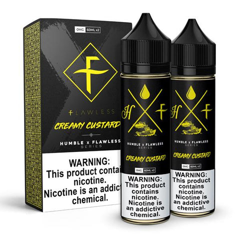 Flawless X Humble E-Liquid - Creamy Custard
