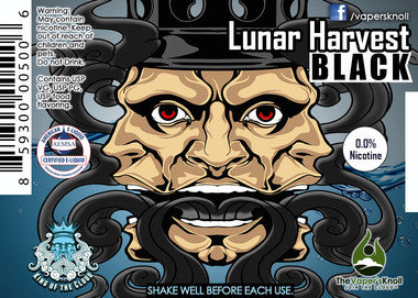 King of The Cloud E-Liquid - Lunar Harvest Black