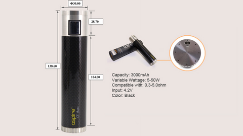 Aspire CF Maxx 3000mah VW Sub Ohm Battery