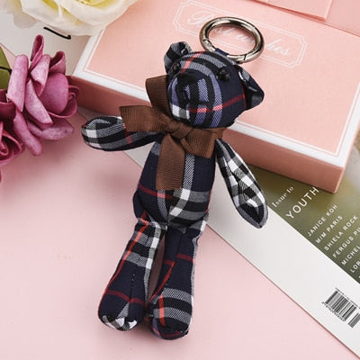 Hot Sale Fashion Bear Key Chain Ornament KeyChains Poret Clef Cute Key Ring Holder Women'sHand Bag Car Pendant Jewelry EH352