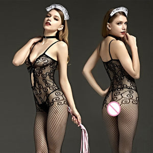 Plus Size bodystocking Sexy Lingerie Erotic Babydoll fetish body suit Underwear latex catsuit Costumes lenceria mujer crotchless