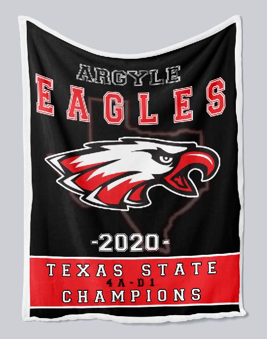 Argyle Eagles State Champs Blanket