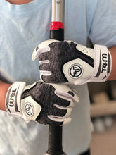 Load image into Gallery viewer, T4M Leather Batting Gloves- White