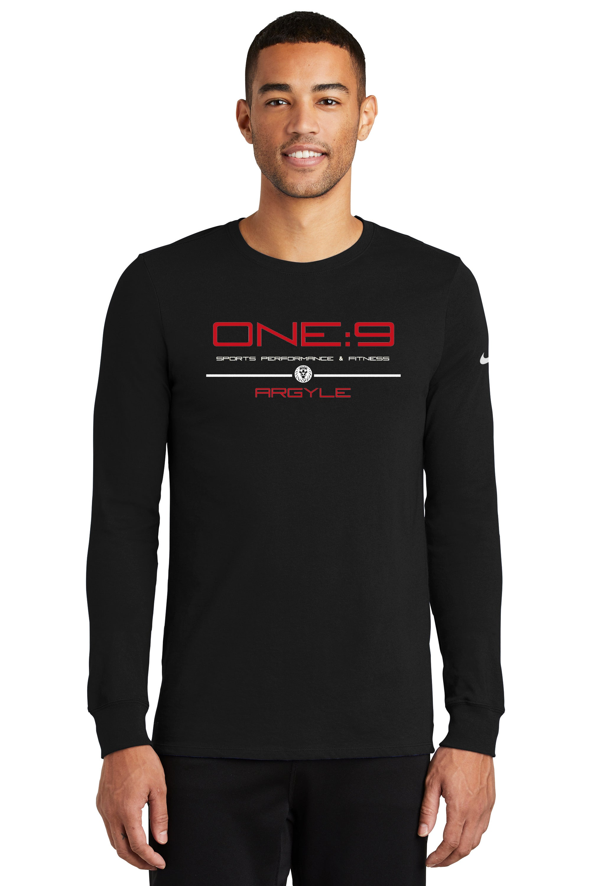 Nike Dri-FIT Cotton/Poly Long Sleeve- Black or Grey