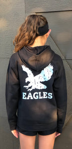 Argyle Eagles Youth Distressed Zip Up Hoodie | T4M Apparel