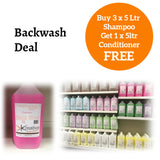 Salon Backwash Deal - Buy 3 x 5ltr Shampoo, Get 1 x 5ltr Conditioner Free