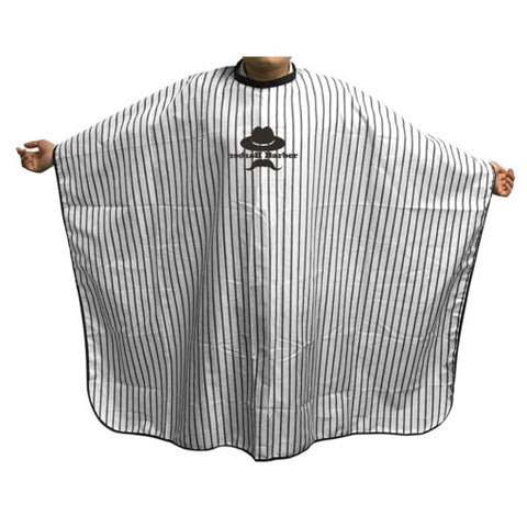Agenda Pin Stripe Barber Cape