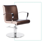 Danae Styling Chair - Black/ Brown