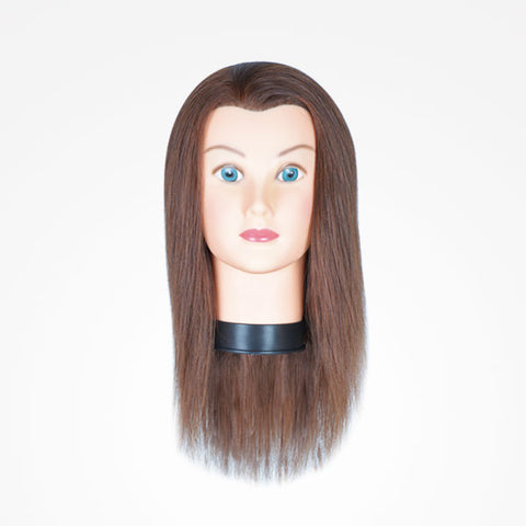 Manniquin Head for Hairdressers 100% Human Hair 30cm