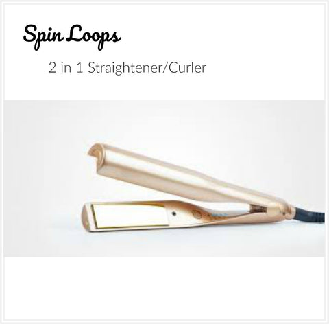 Spin Loops 2 in 1 Curved Hair Straigthener