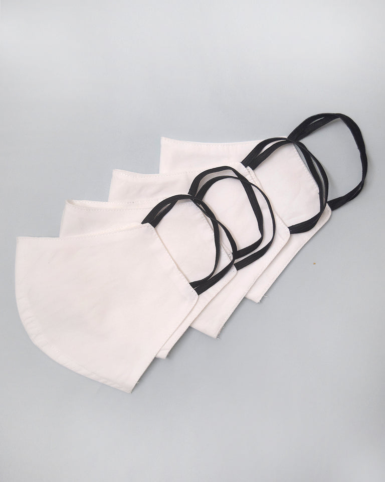 Load image into Gallery viewer, White Cotton Cloth Face Essentials - Set of 4