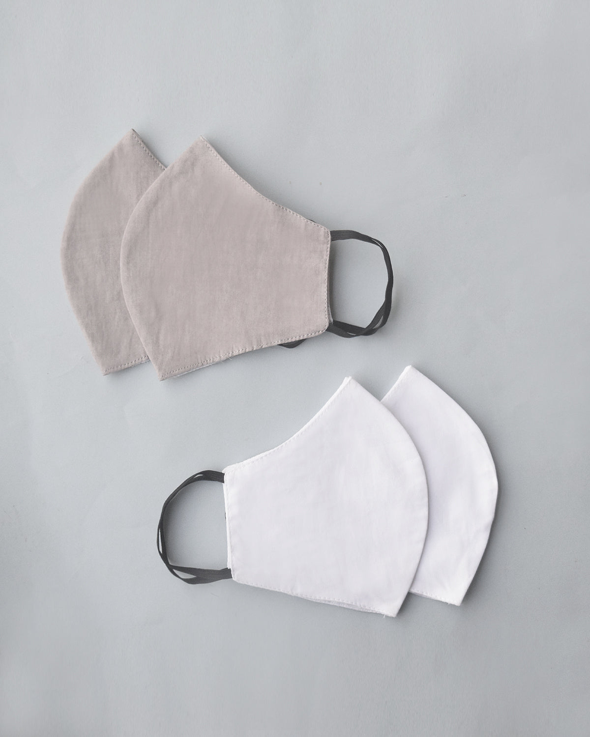 Grey White Cotton Covers - Set of 4