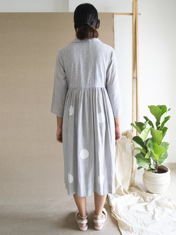 Grey Polka Angarakha Dress