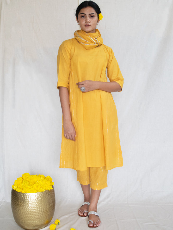 Load image into Gallery viewer, Marigold Side Gather Tunic-Dress