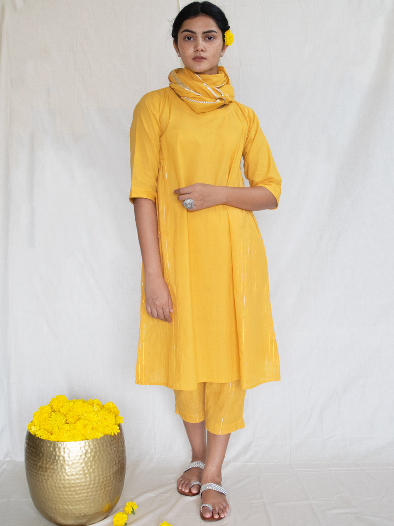 Marigold Side Gather Tunic-Dress