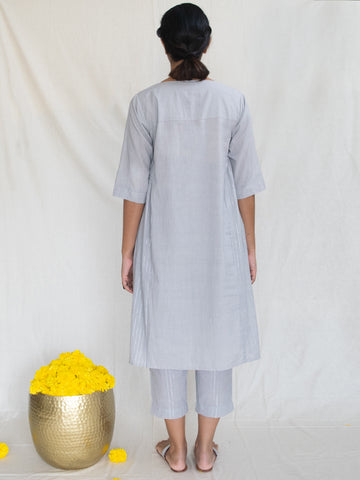Grey Side Gather Tunic-Dress
