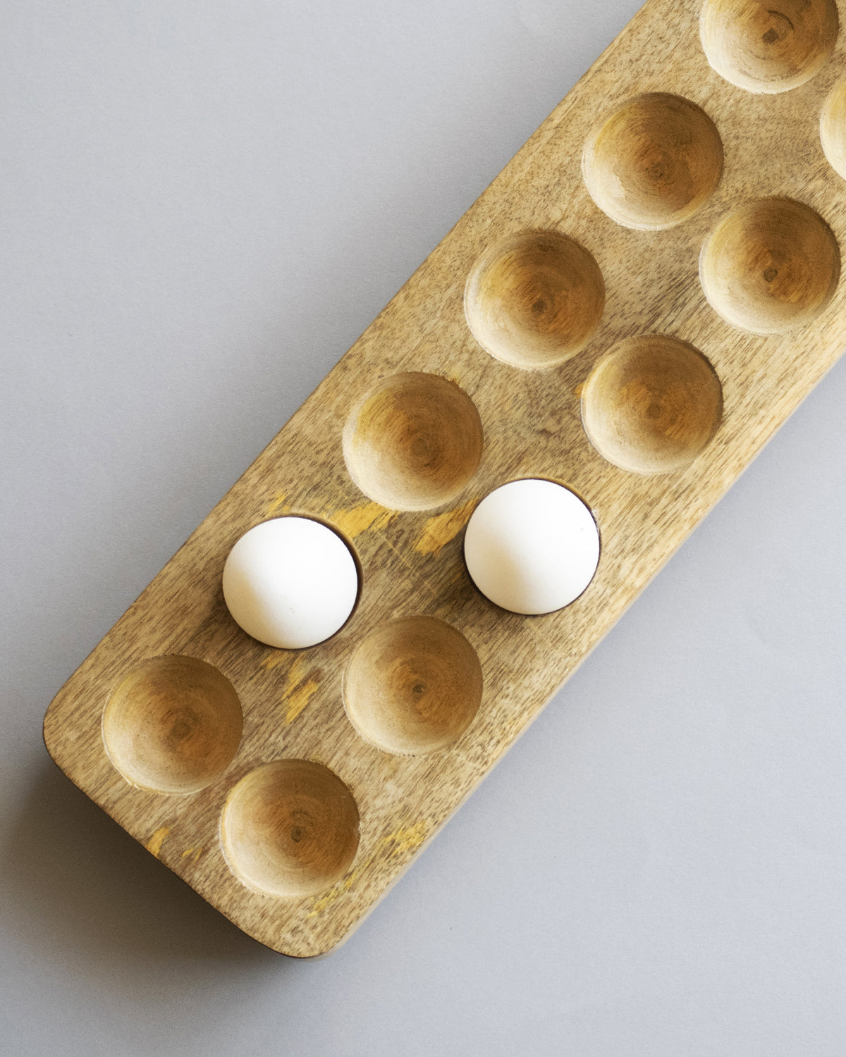 Egg tray - Solid Mango Wood