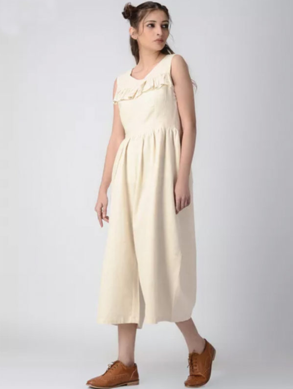 Load image into Gallery viewer, Ivory High Waist Jumpsuit