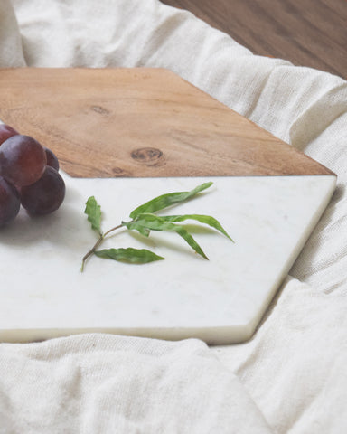 Modern Wooden Marble Cheese/Board