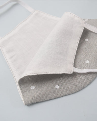 Beige Grey Polka Cotton Covers - Set of 4