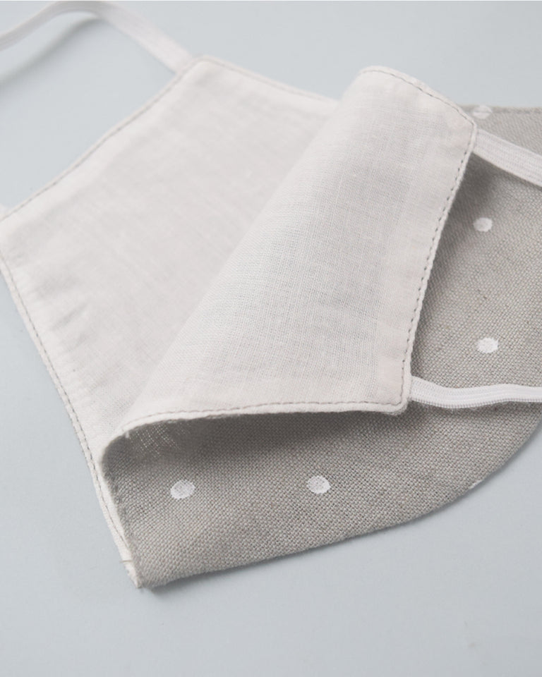 Load image into Gallery viewer, Beige Grey Polka Cotton Covers - Set of 4