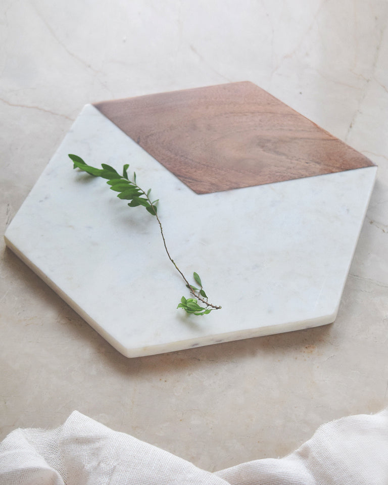 Load image into Gallery viewer, Modern Wooden Marble Cheese/Board