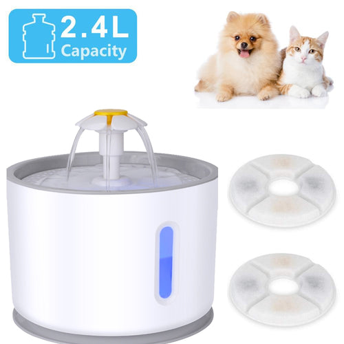 2.4L Automatic dog / cat water fountain for pets not drinking water ⛲️🙀🐶 - PupiPlace