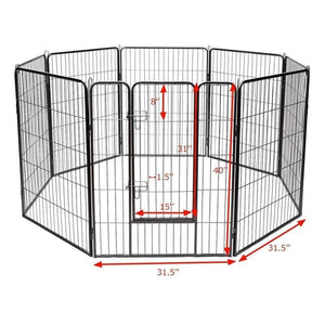 "40"" Heavy duty large dog crate with 8 panels 🏰🐶🐕‍🦺🐾🤩 - PupiPlace"