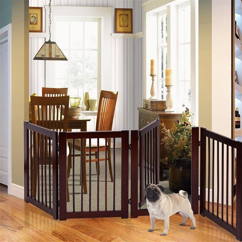dog gate with door
