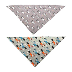 Summer Cotton Scarfs dog fox and rabbit styles 🐶🦊🐇 - PupiPlace