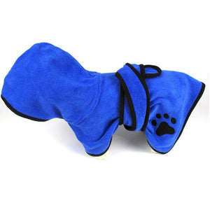 Super Absorbent Dog Bathrobe : Make your puppy first bath memorable ! 🐶🎽🐾 - PupiPlace