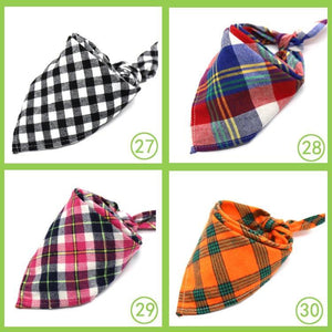 Reversible Trianguar Checked Scarfs for a beauty dog 🐶🧣🐾 - PupiPlace