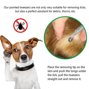 Stainless Steel Tick Removal Tool : remove ticks on dogs and cats 🐶🐱🦟 - PupiPlace