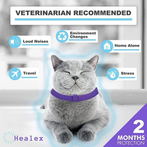 Calming Collar For Cats : helps reduce anxious cat symptoms 🙀😾😽🐈😌 - PupiPlace