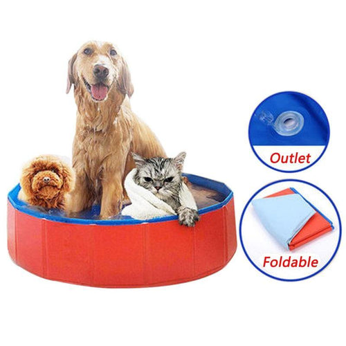 Foldable cat and dog swimming pool 🐱🐶🛁🧊🐬 - PupiPlace