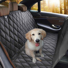 Load image into Gallery viewer, Pure-Black Dog Car Rear Seat Cover With Anchors Hammock suitable to all dog breeds🐾🦮🐕‍🦺🐩🚙 - PupiPlace