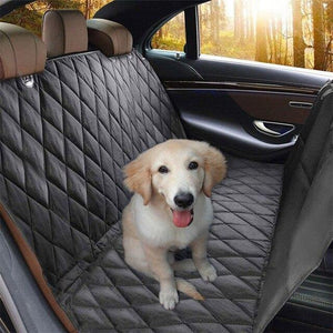 Pure-Black Dog Car Rear Seat Cover With Anchors Hammock suitable to all dog breeds🐾🦮🐕‍🦺🐩🚙 - PupiPlace