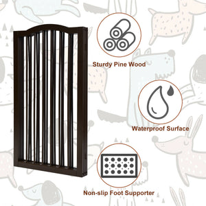 36.5'' Wooden dog gate for doorway in 3 panels for tiny dog breeds 🐶🐾🙈🚪 - PupiPlace