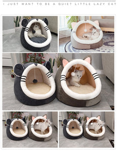 Warming cat bed cave 😻⛺️🐾🐱🐈 - PupiPlace